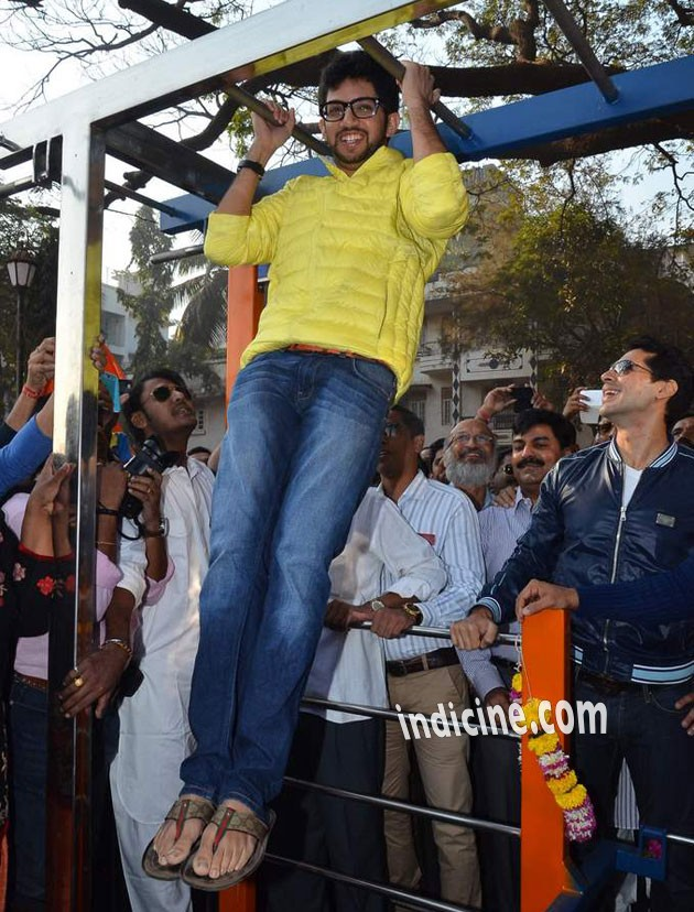 Aditya Thackeray at the launch of DM fitness at Worli