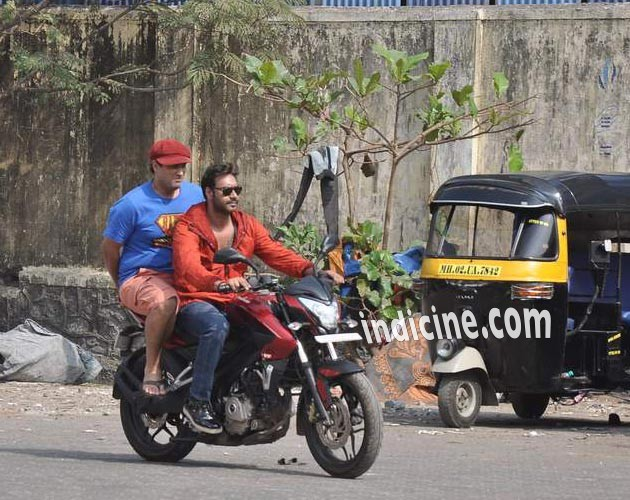 Ajay Devgan on location in Oshiwara