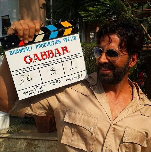 Akshay Kumar on the sets of Gabbar