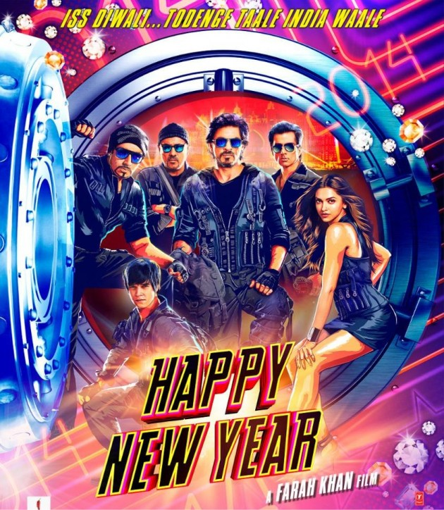 Happy New Year Poster - SRK, Deepika