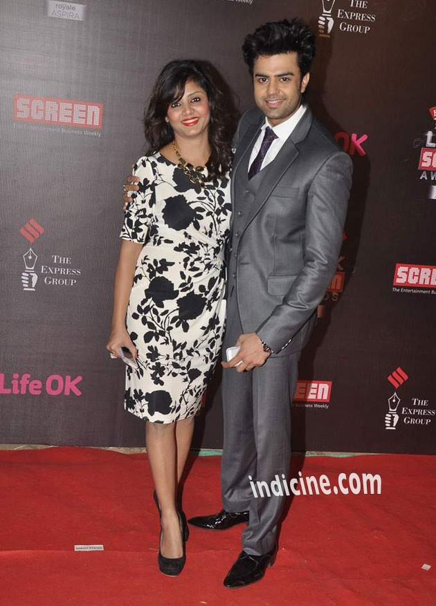 Manish Paul Wife Sanyukta And Daughter Manish Paul With His Wife