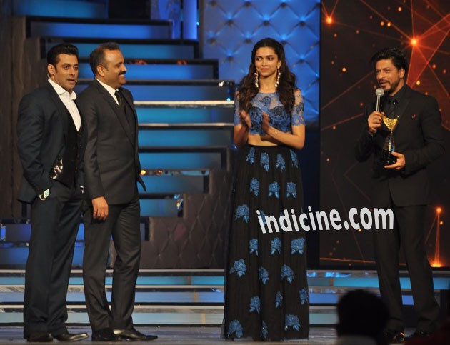 Salman Khan, Deepika Padukone and Shahrukh Khan