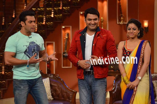 Salman Khan, Kapil Sharma and Sumona Chakravarti