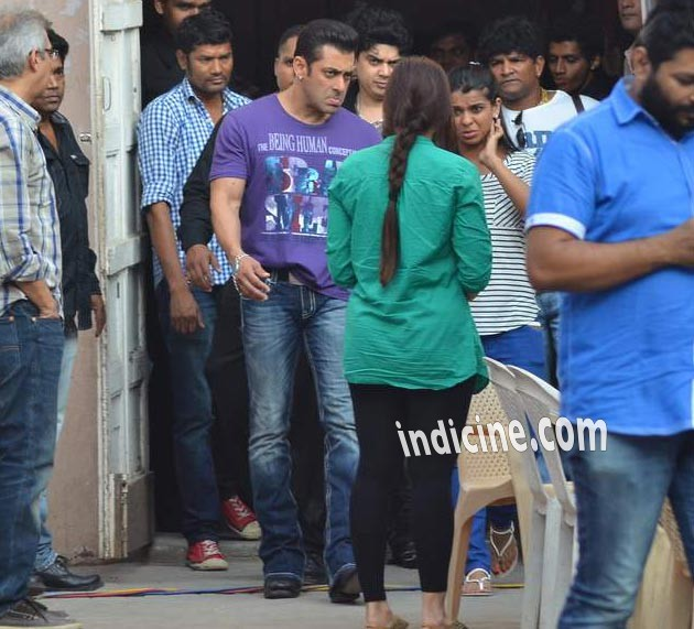 Salman Khan at Mehboob Studio