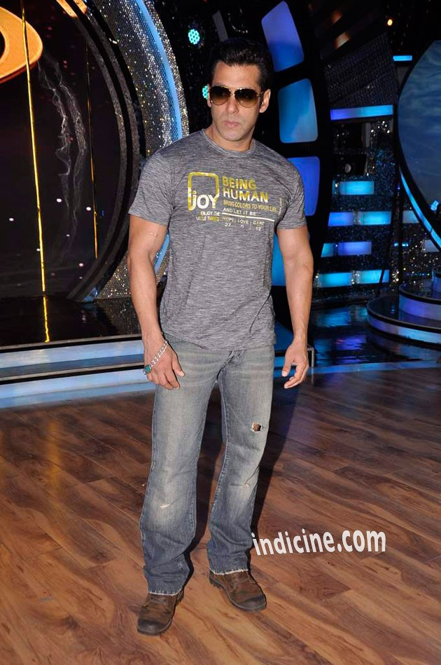 Salman Khan on the sets of ZEE DID