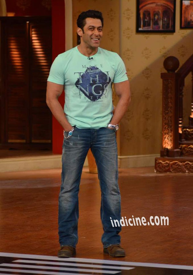 Salman Khan promotes Jai Ho on Comedy Nights with Kapil