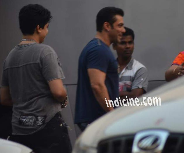 Salman Khan snapped at Mehboob Studio