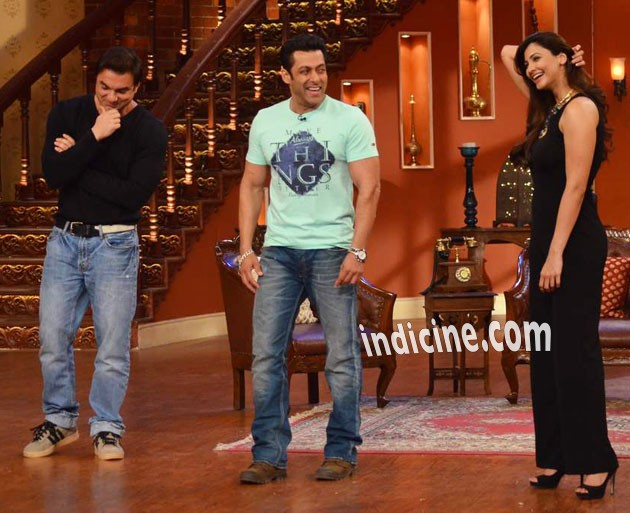 Sohail Khan, Salman Khan and Daisy Shah