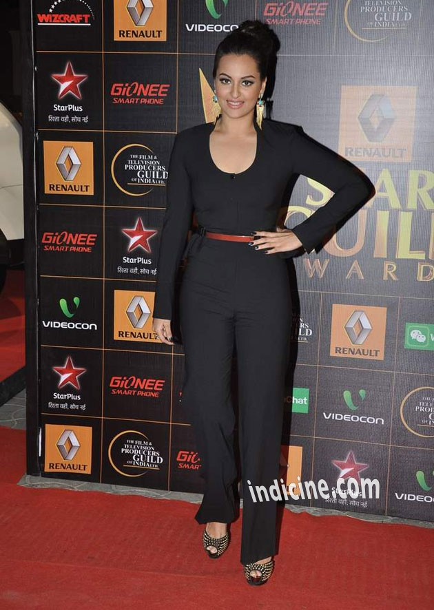 Sonakshi Sinha at Star Guild Awards 2014