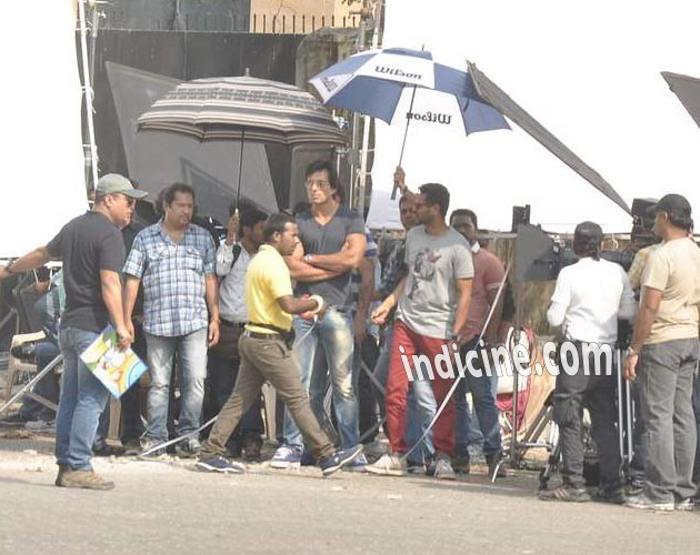 Sonu Sood Prabhu Deva Action Jackson on location