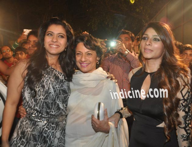 Tanuja with daughters Kajol and Tanisha Mukherjee