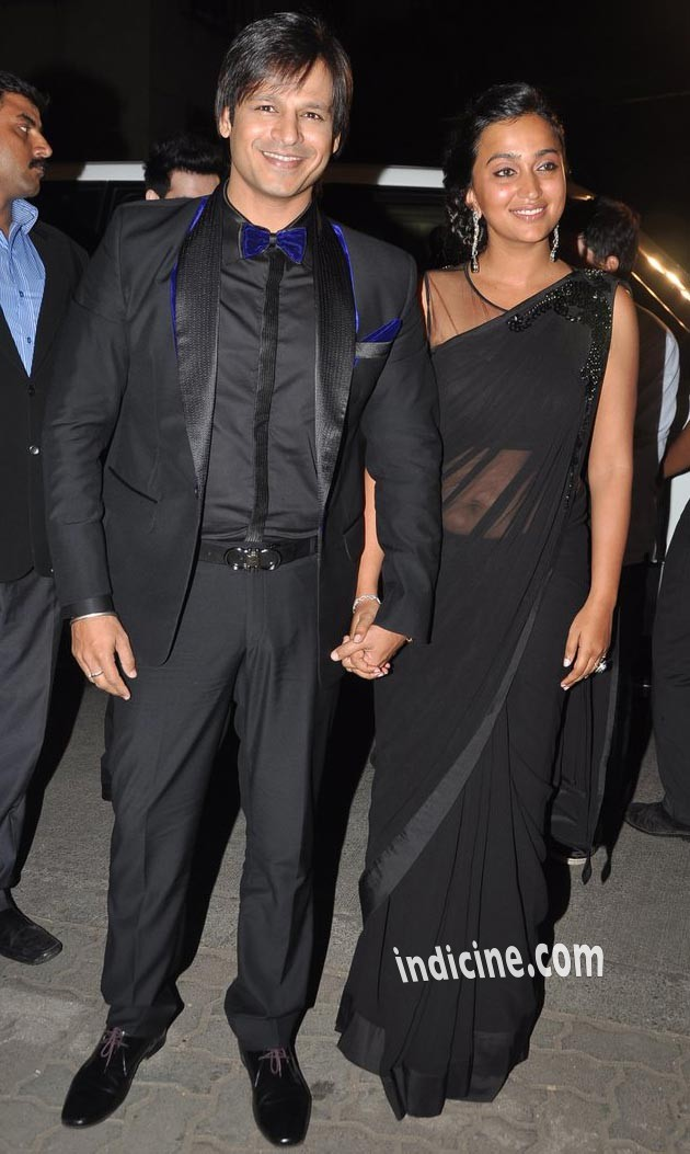Vivek Oberoi with wife Priyanka Alva Oberoi