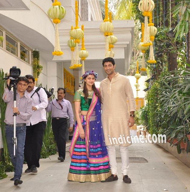 Ahana Deol with Vaibhav Vora