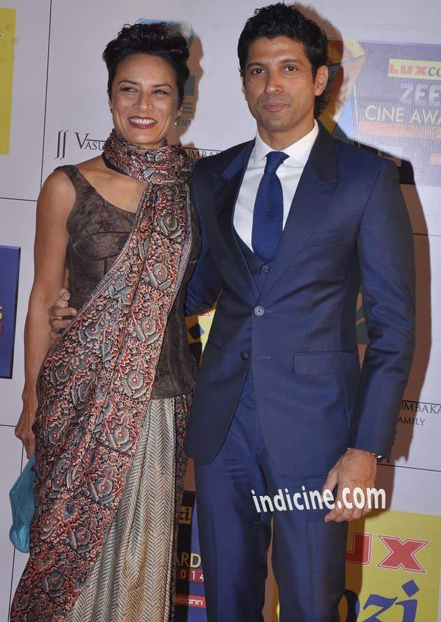 Farhan Akhtar with wife Adhuna Akhtar