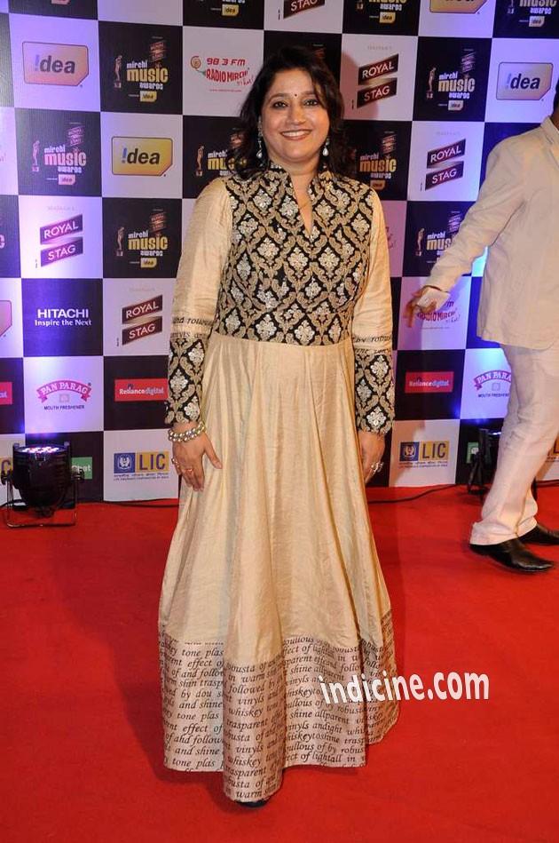 Kavita Seth at Mirchi Music Awards