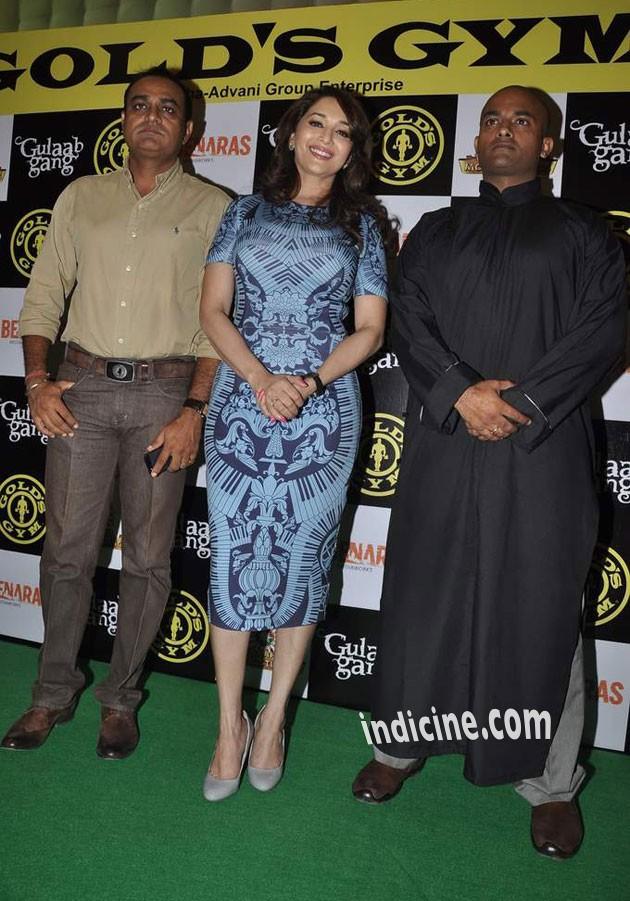 Madhuri Dixit at Gold Gym