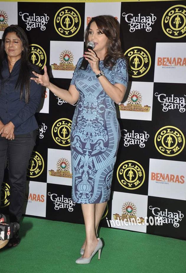 Madhuri Dixit promotes her film Gulaab Gang