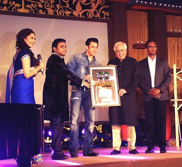 Salman Khan unveils A R Rahman's Album Raunaq