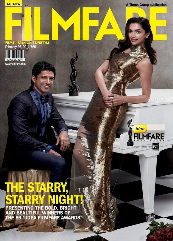 Deepika Padukone and Farhan Akhtar on Filmfare Magazine Cover