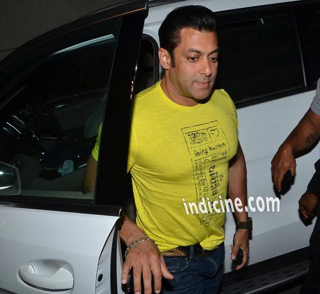 Salman Khan at Marathi film Yellow screening