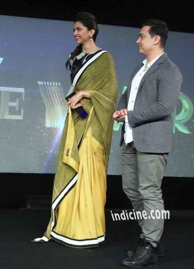 Aamir Khan with Deepika Padukone