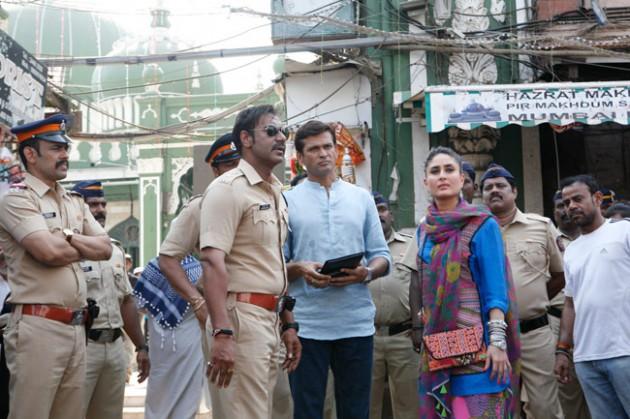 Ajay Devgn and Kareena Kapoor Singham 2 on location