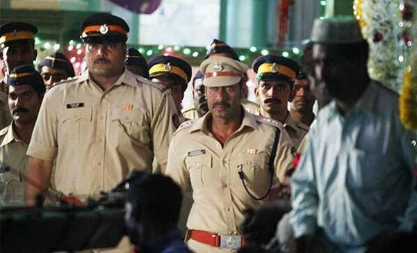 Ajay Devgn shooting for Singham 2 in Mahim