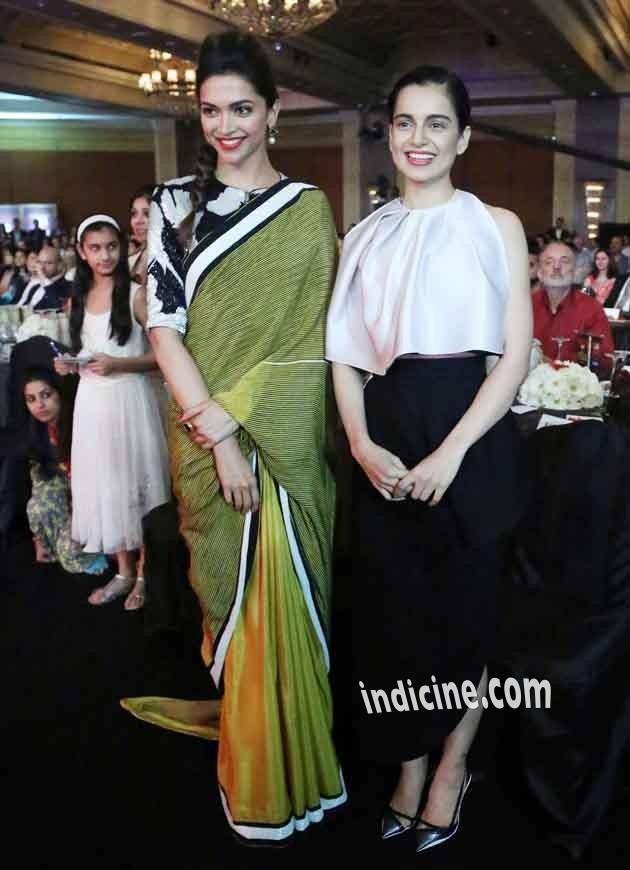 Deepika Padukone, Kangana Ranaut at NDTV Indian Of The Year Awards 2014
