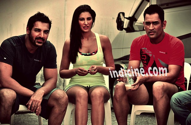John, Nargis and Dhoni snapped at Reebok-Live with Fire campaign shoot in Malaysia