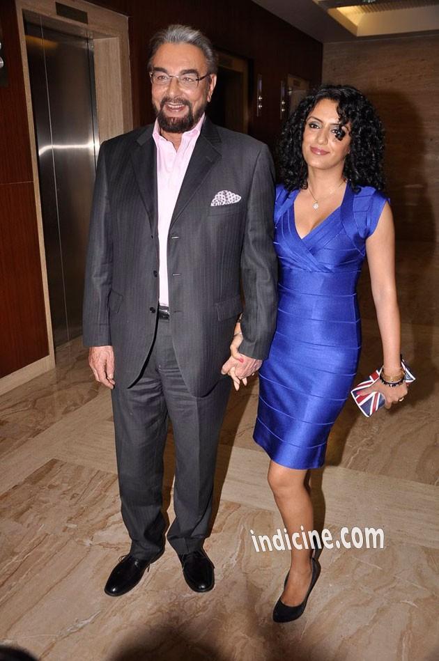 Kabir Bedi with his wife Parveen Dusanj