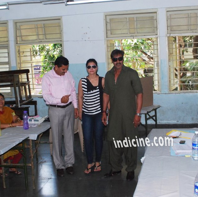 Kajol with husband Ajay Devgan