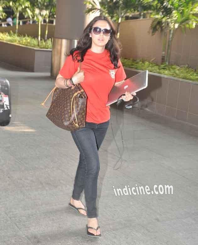 Preity Zinta returns from IPL Match
