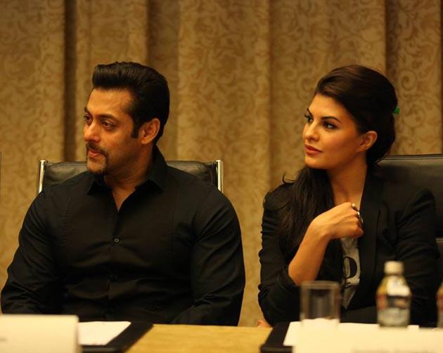 Salman Khan and Jacqueline Fernandez at Kick press meet in Poland