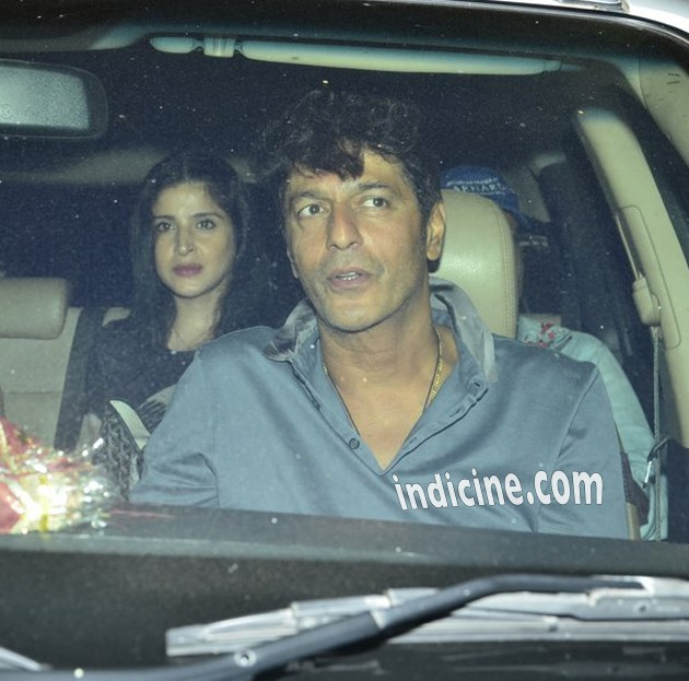 Chunky Pandey with wife Bhavna Pandey