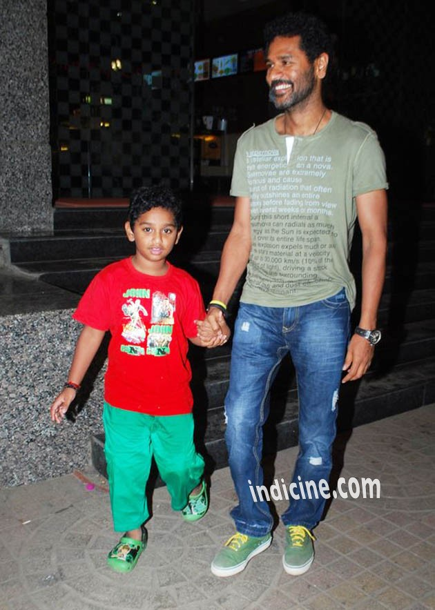 Prabhu Deva snapped with his son