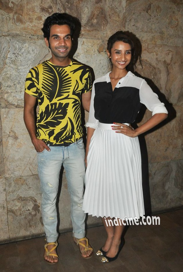 Rajkummar Rao, Patralekha at special screening of CityLights
