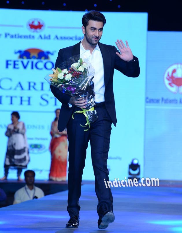 Ranbir Kapoor at the Cancer Patients Aid Association's fashion show