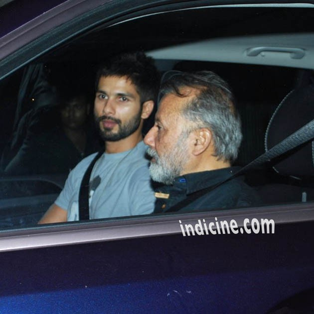 Shahid Kapoor with father Pankaj Kapoor