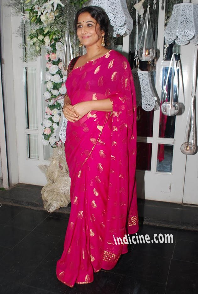 Vidya Balan at Pankaj Kapoor's birthday bash