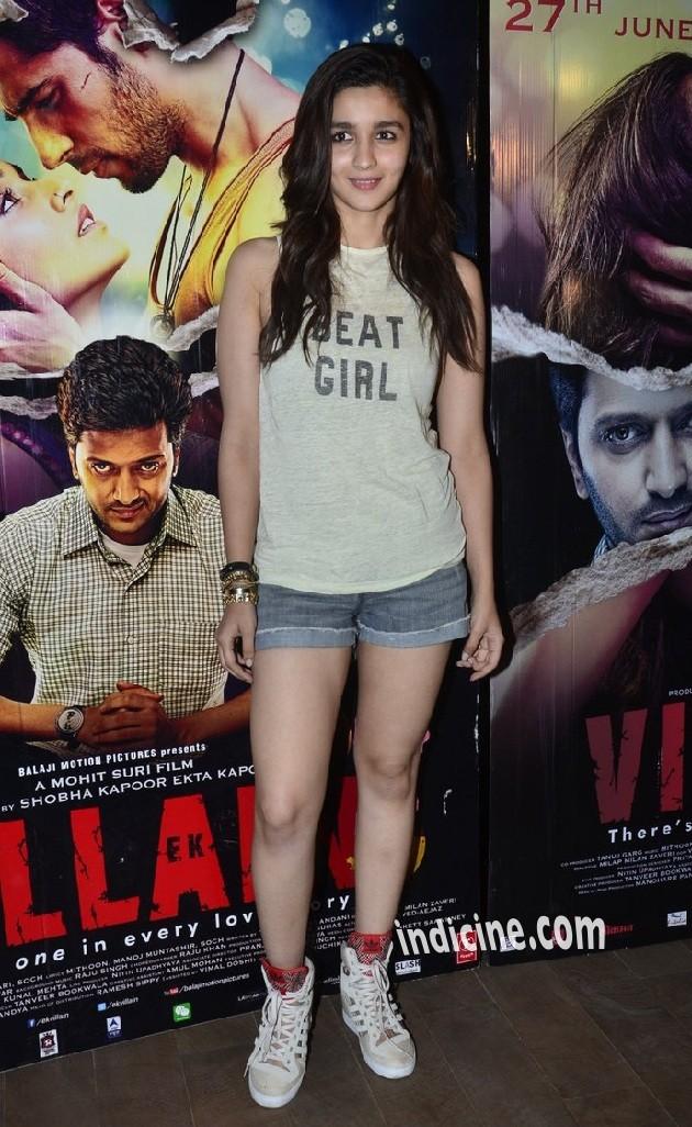 Alia Bhatt at special screening of Ek Villain at Lightbox