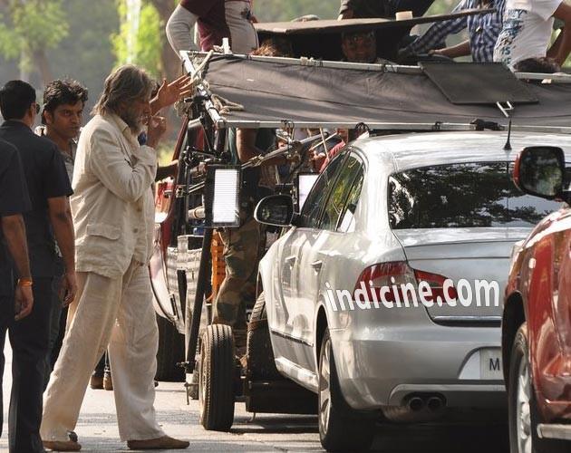 Amitabh Bachchan Shamitabh on location