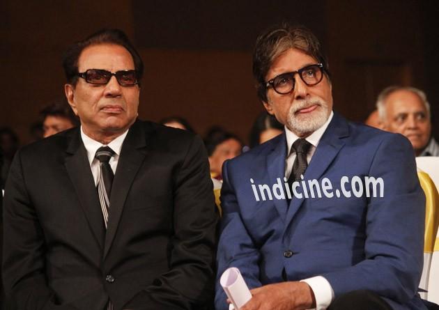 Dharmendra with Amitabh Bachchan
