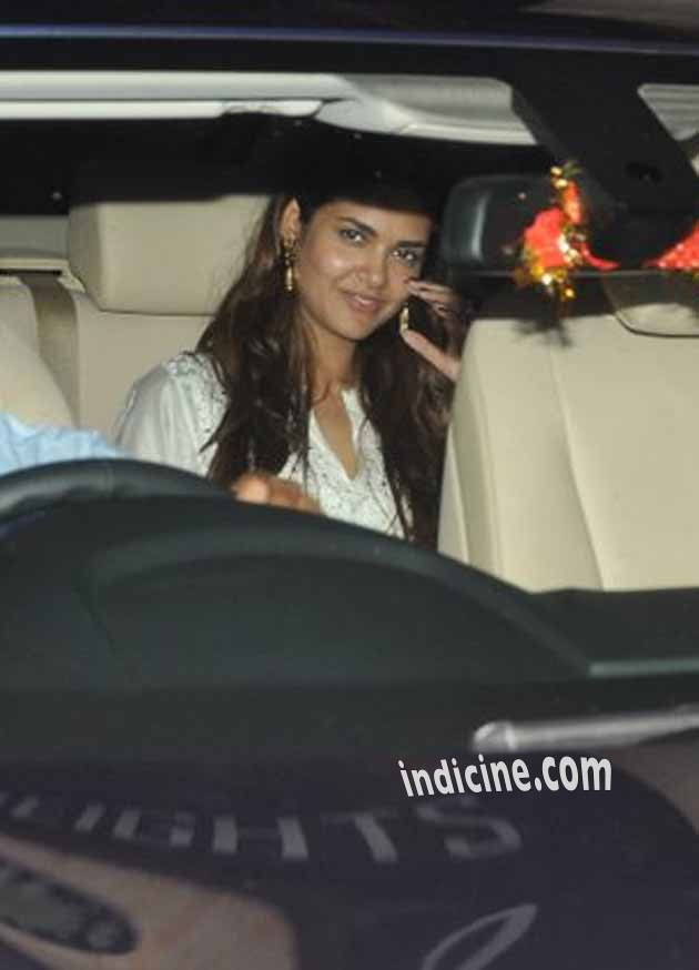 Esha Gupta at Saif Ali Khan's party