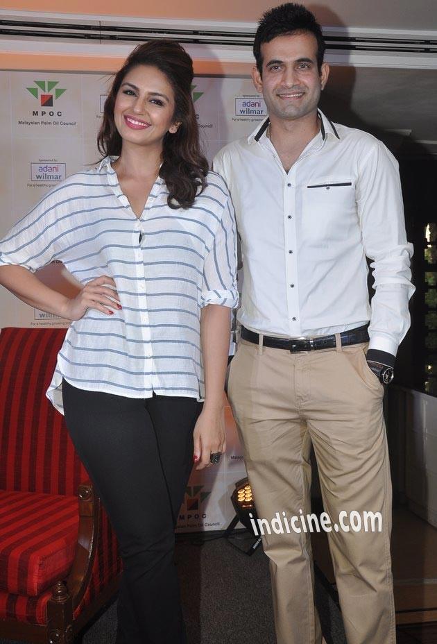 Huma Qureshi with Irfan Pathan