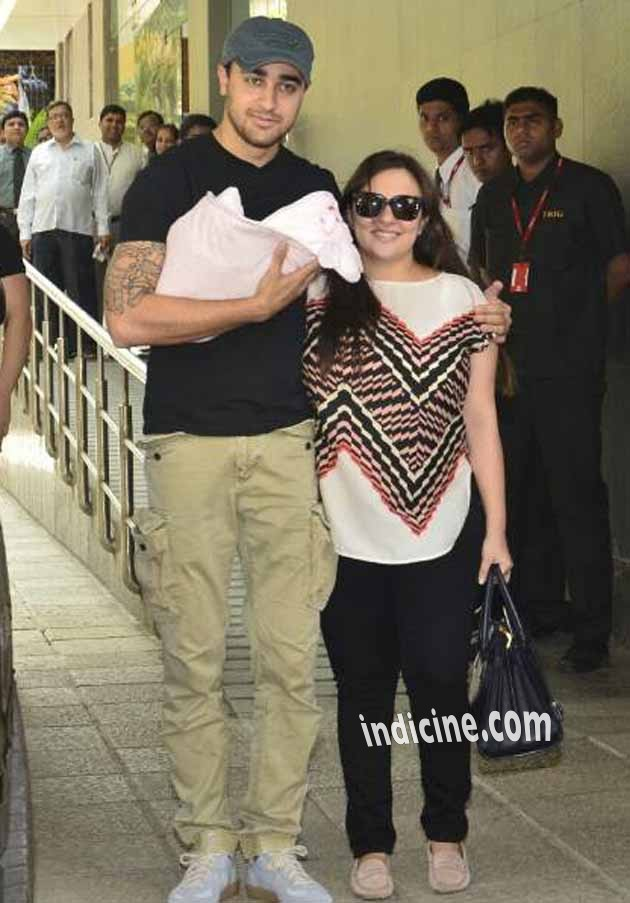 Imran Khan, Avantika leave hospital with newborn daughter