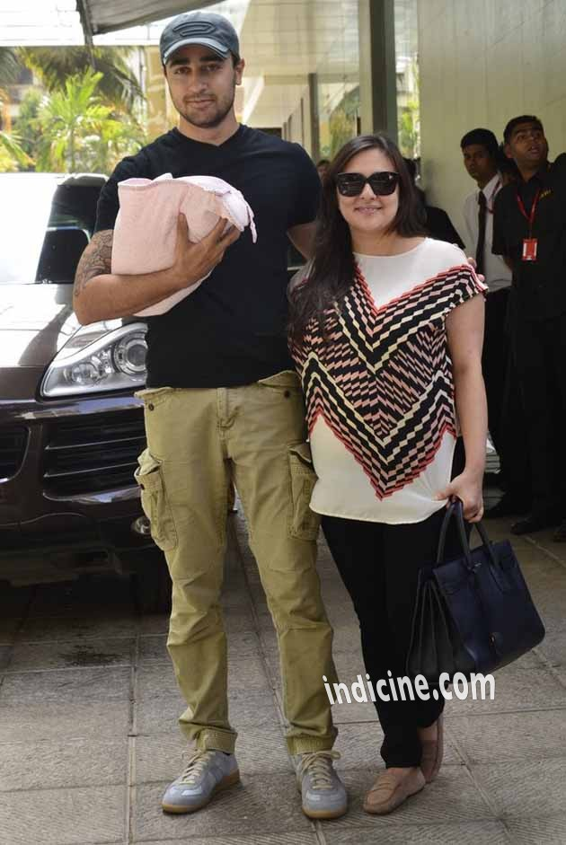 Imran Khan and Avantika snapped with new born baby girl