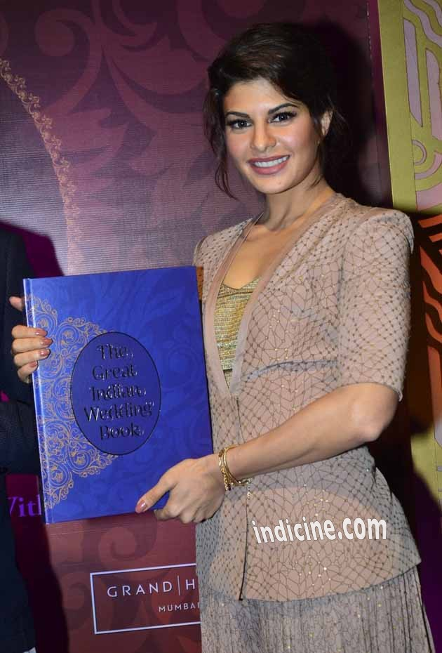 Jacqueline Fernandes at the launch of The Great Indian Wedding Book