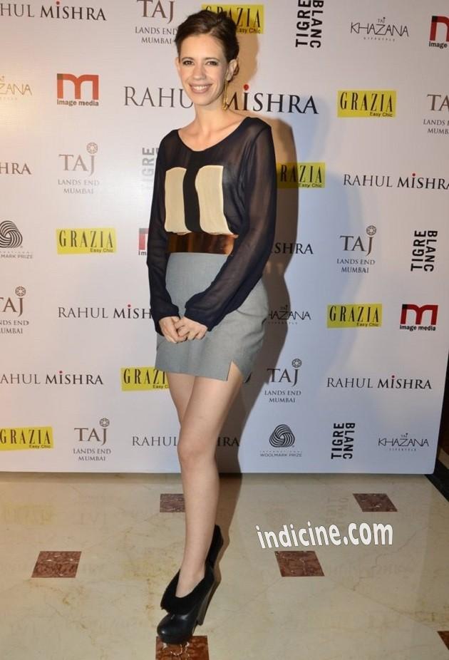 Kalki Koechlin at Rahul Mishra's bash