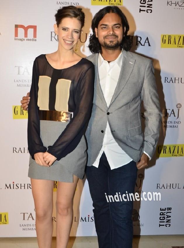 Kalki Koechlin with Rahul Mishra