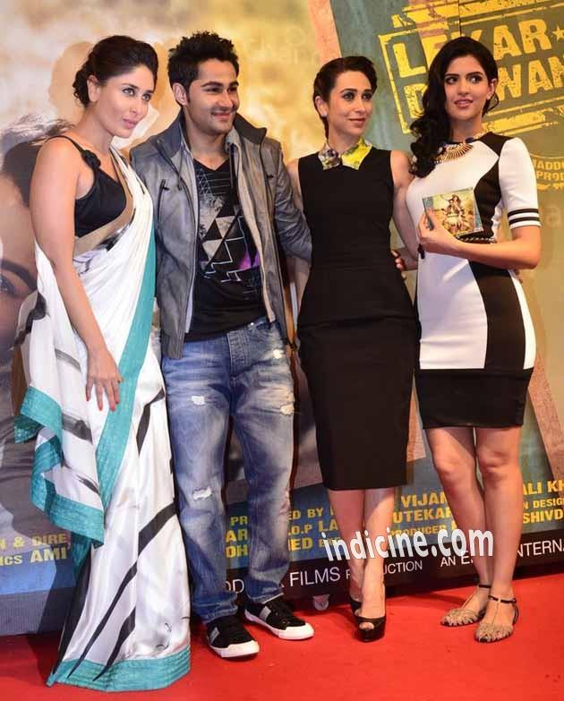 Kareena Kapoor, Armaan Jain, Karishma Kapoor and Deeksha Seth at Lekar Hum Deewana Dil audio release